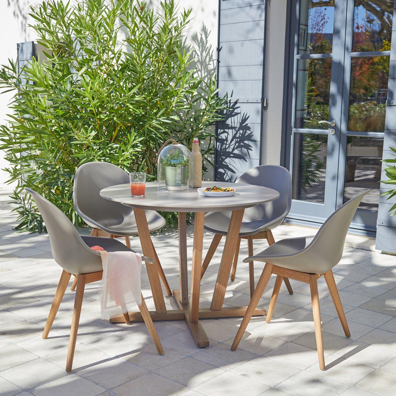 Un Salon De Jardin Au Style Scandinave | Table De Jardin ... concernant Salon De Jardin Solde Leroy Merlin