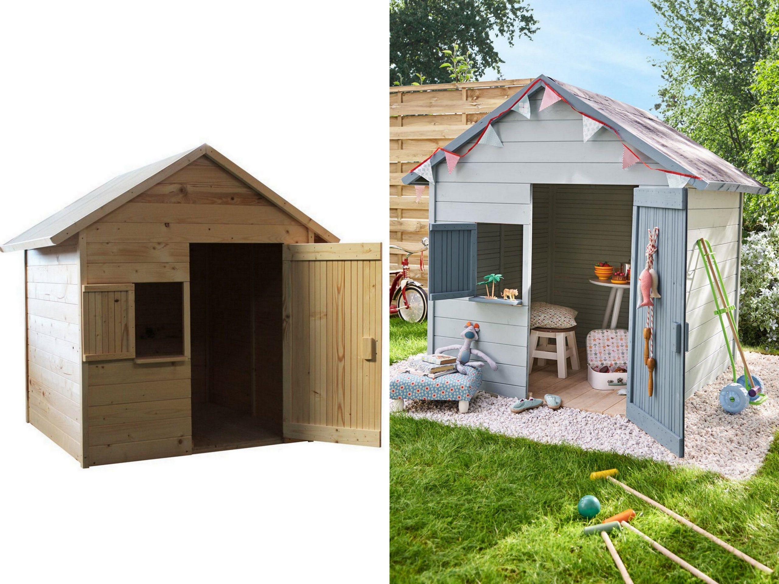Une Cabane En Bois Pour Enfant À Prix Doux | Abri De Jardin ... destiné Cabane De Jardin Enfant Pas Cher