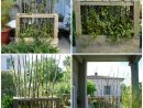 Upcycled Wooden Pallet Vegetal Fence | Jardin | Paravent ... à Paravent De Jardin