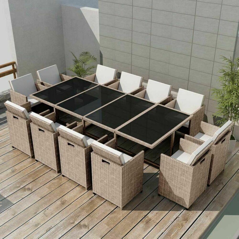 Vidaxl Ensemble De Mobilier Gris/beige Poly Rotin 37 Pcs ... pour Amazon Salon De Jardin En Resine Tressee