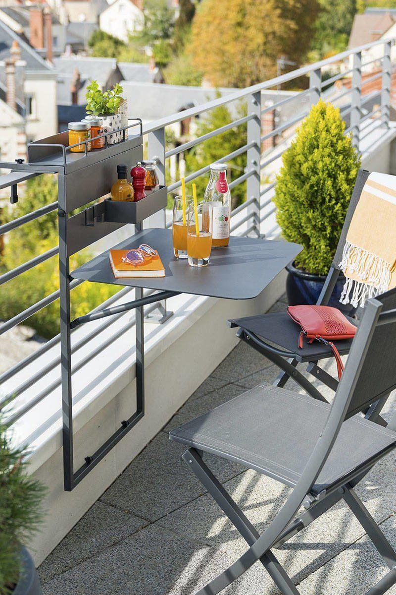 12 Meubles À Adopter Pour Un Petit Balcon En 2020   Petit ... destiné Petit Salon De Jardin Pour Balcon