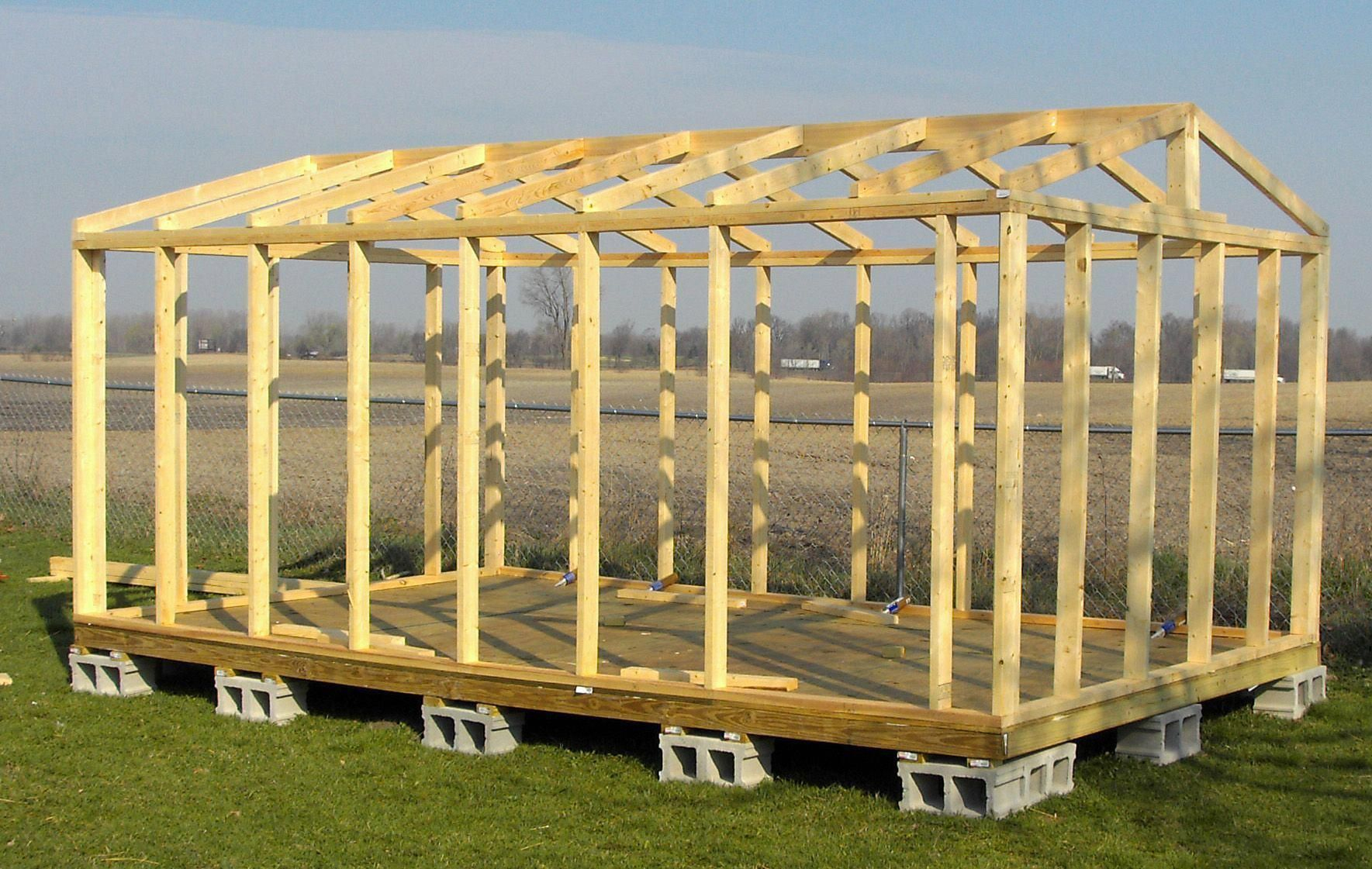 16X20 Shed Plans | All Wall And Roof Framing Is From Solid ... concernant Abri De Jardin 2X3