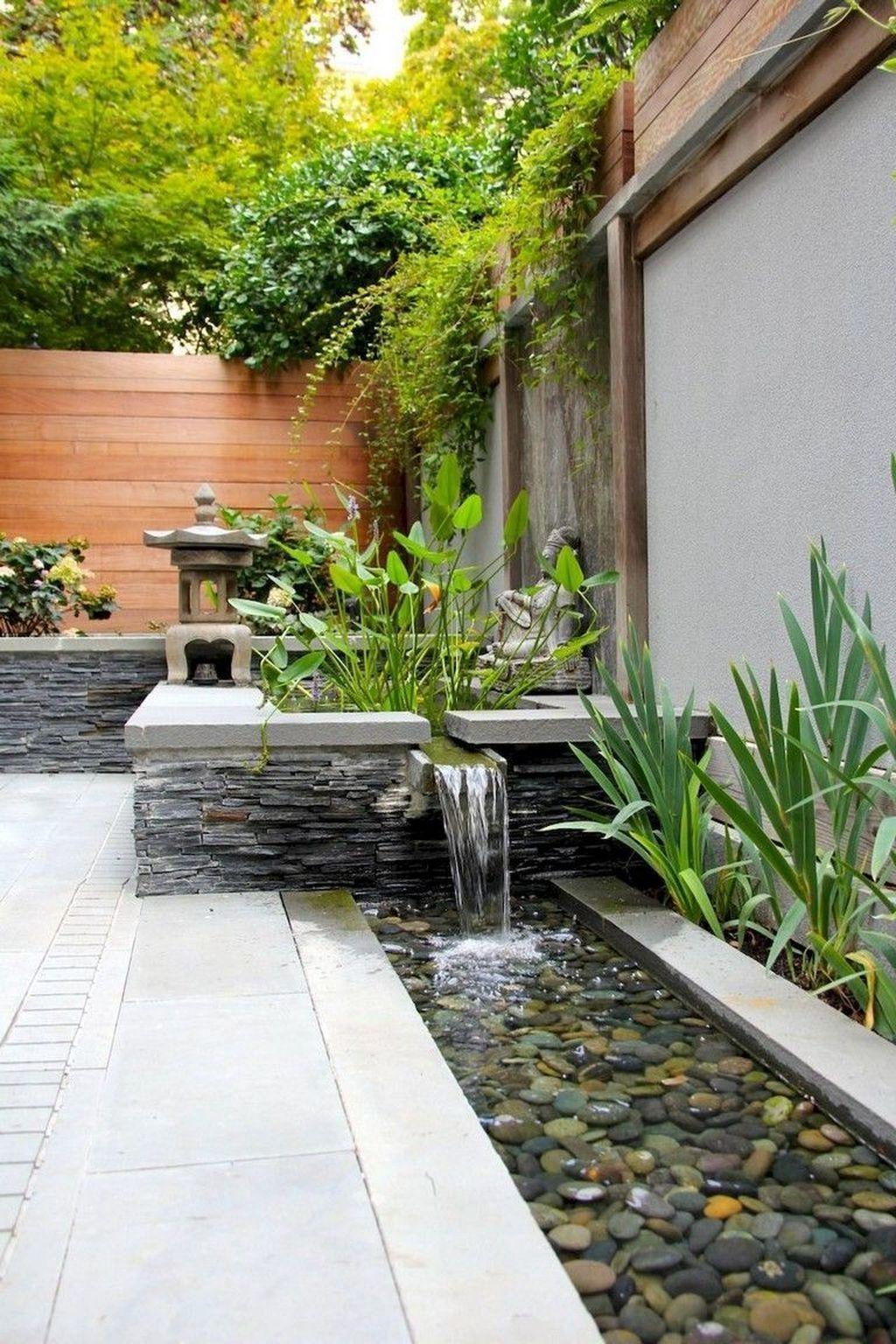 40 Awesome Backyard Landscaping Ideas With Elegant Accent ... dedans Jardin Zen Avec Fontaine
