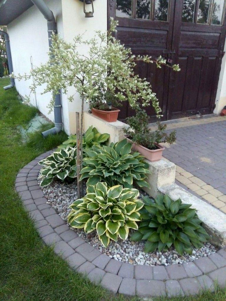45 Extraordinary Front Yard Landscaping With Flower Design ... destiné Ide Rocaille Devant Maison