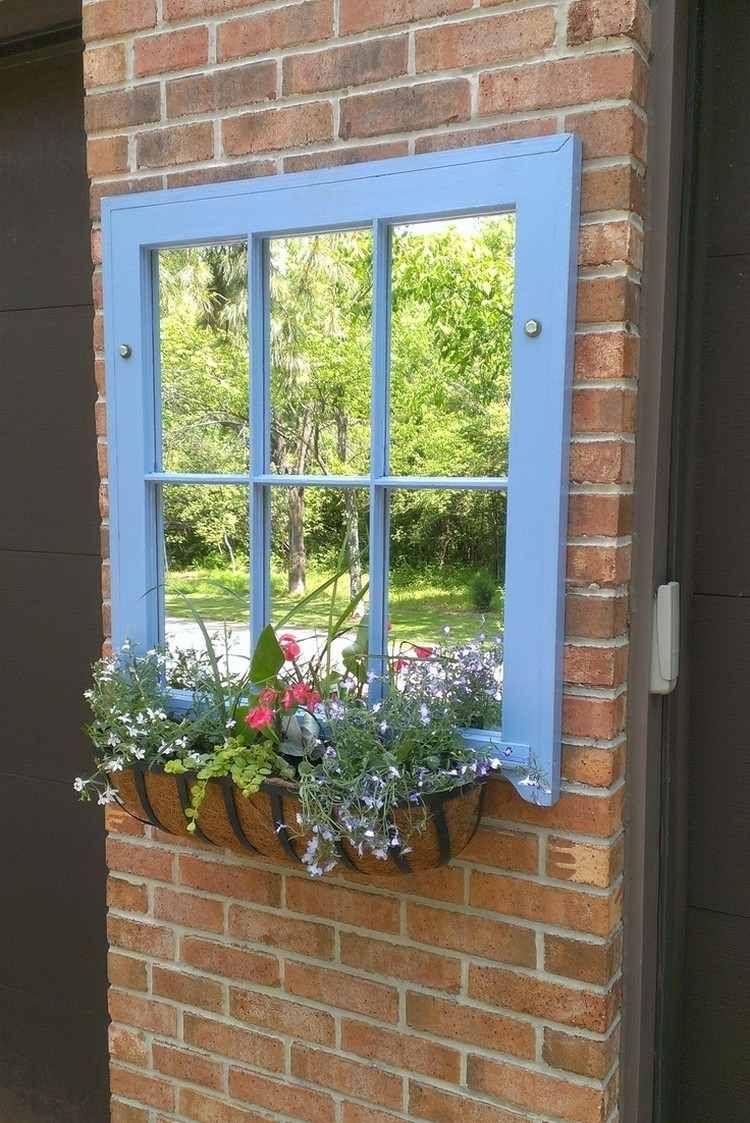 55 Ideen Für Gartendeko Aus Alten Fenstern Und Türen ... dedans Idee Deco Jardin