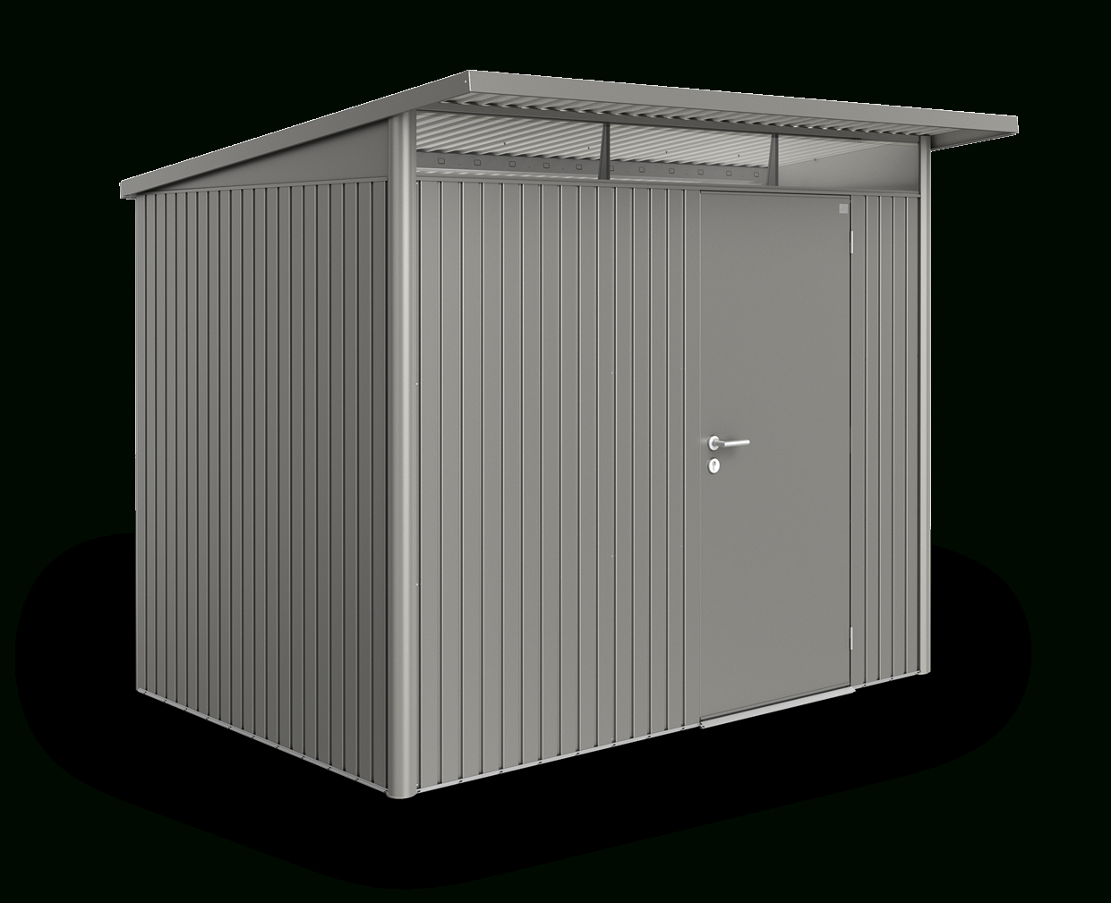 Abri De Jardin Biohort Avantgarde® - Moderne Avec Toit En ... avec Abri De Jardin Metal 5M2 Toit Plat