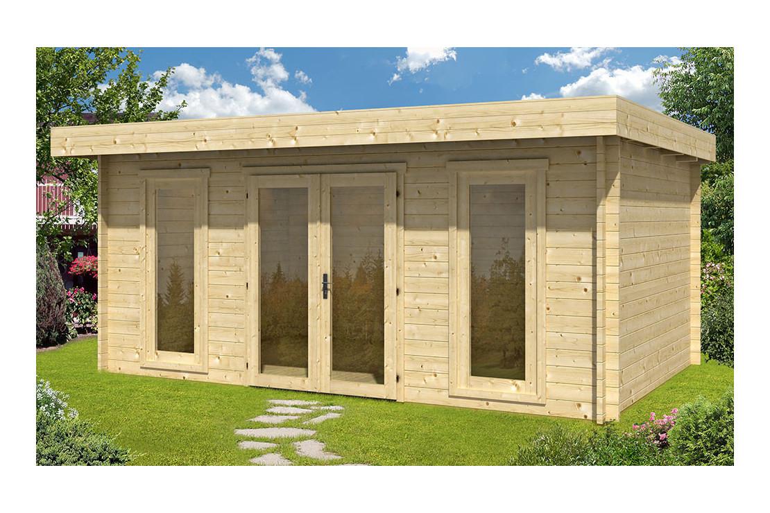 Abri De Jardin Cannes 44Mm Wc - 16,8M² Intérieur pour Abri De Jardin Semi Habitable