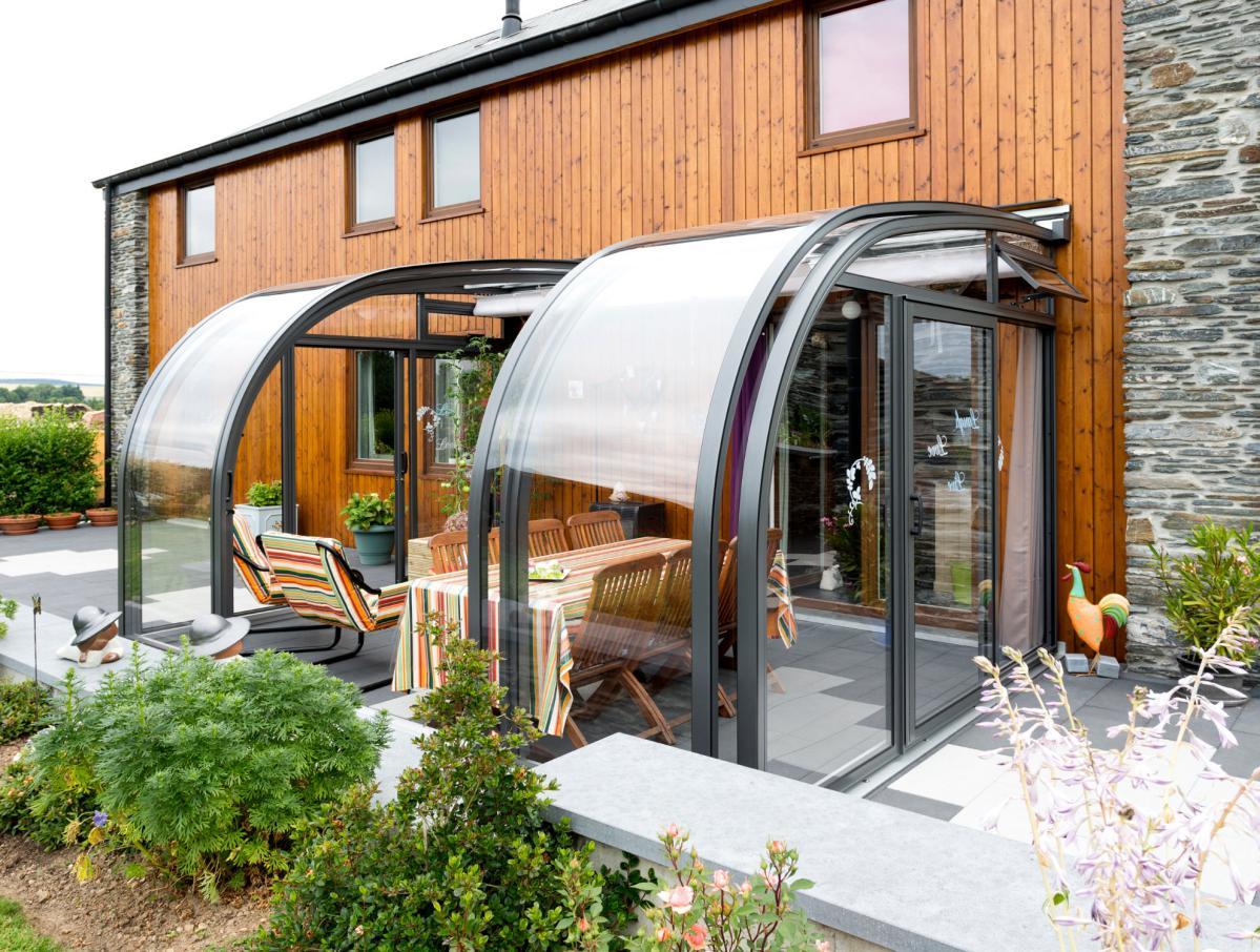 Abri De Terrasse Coulissant Et Veranda Retractable Aluminium ... pour Abri De Terrasse Coulissant