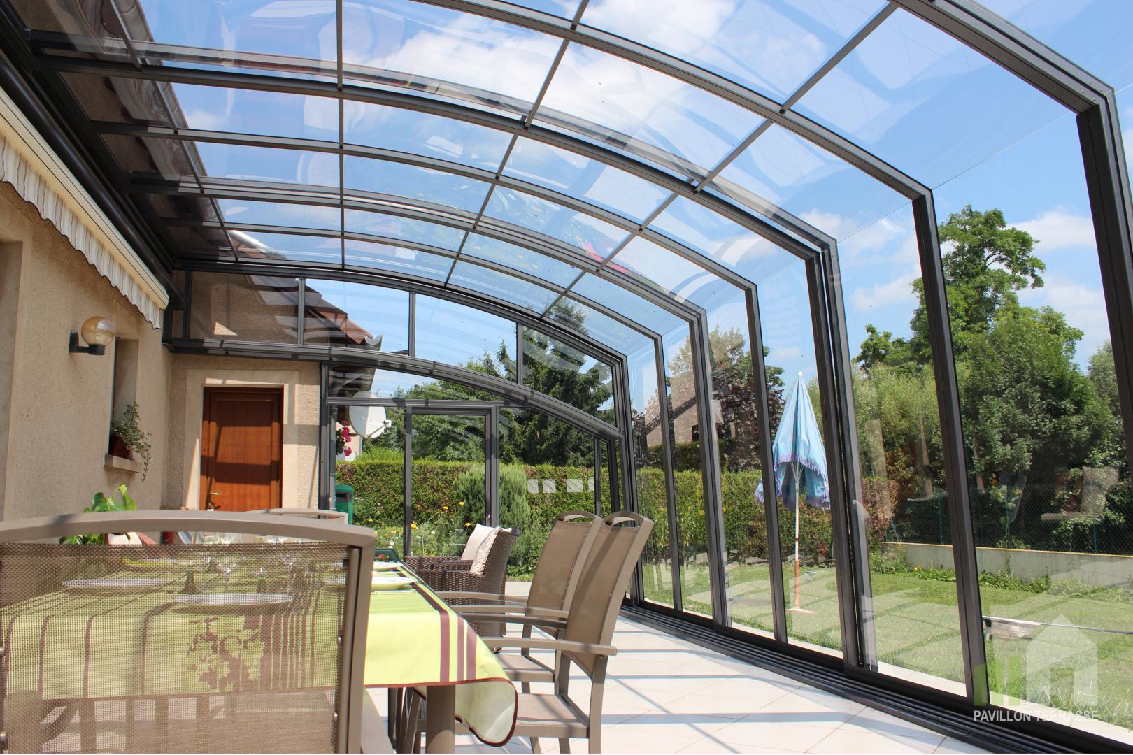 Abris Terrasse Pavillon I Solar Véranda Voroka Coulissante ... avec Abri De Terrasse Coulissant