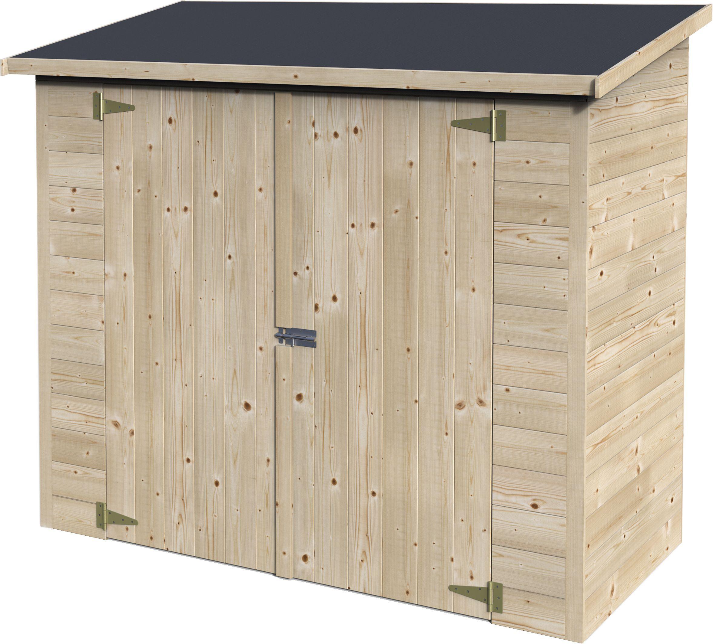 Aki Bricolaje, Jardinería Y Decoración. Armario Madera Box ... intérieur Abri De Jardin Pas Cher Occasion
