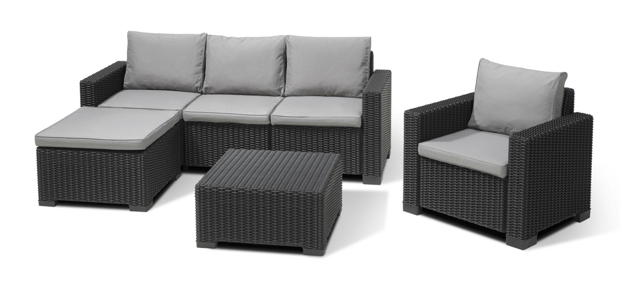 Allibert Moorea Lounge Set Graphit - Allibert destiné Salon De Jardin Allibert California