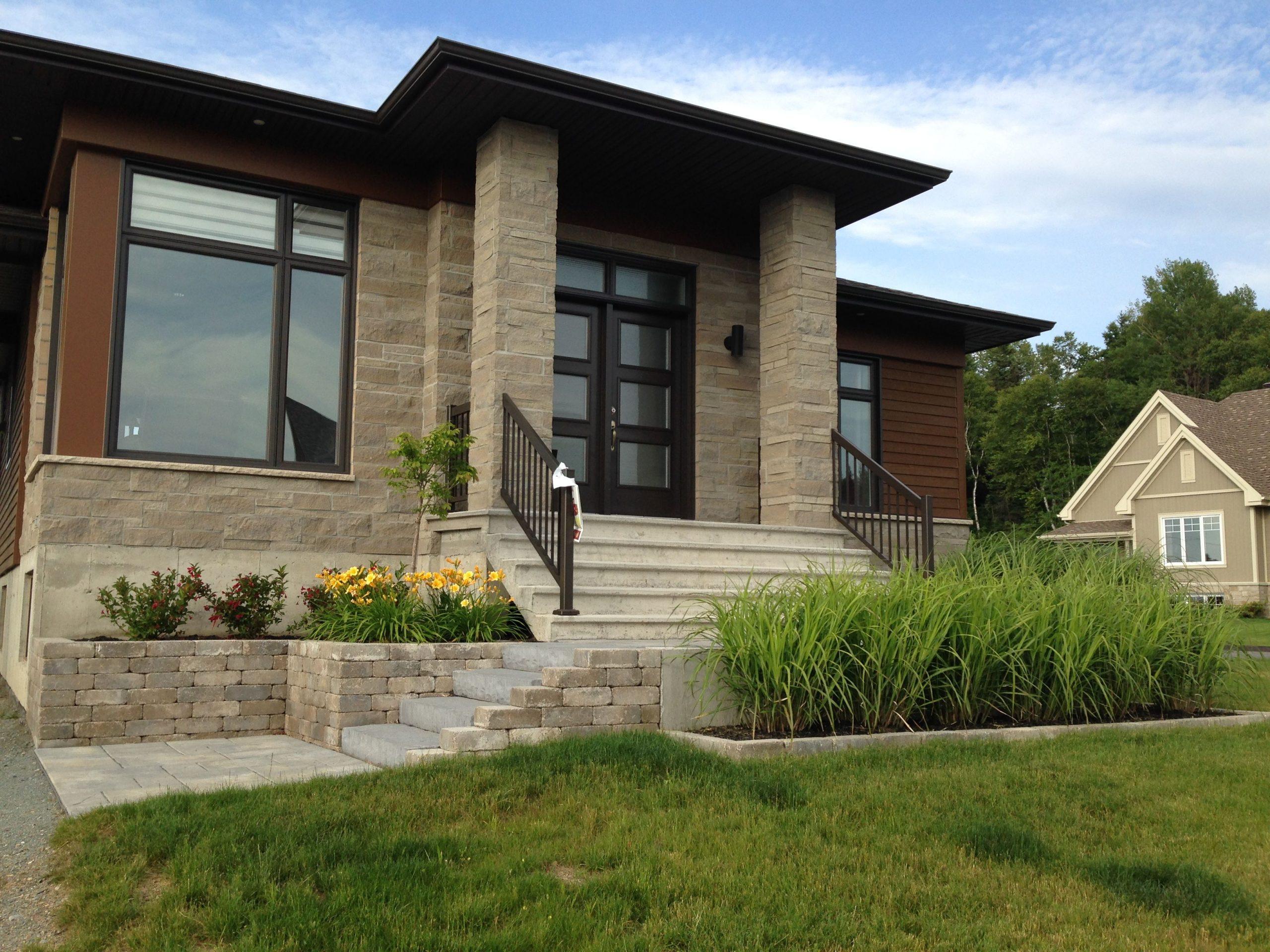 Aménagement Contemporain | Aménagement Paysager Devant ... concernant Aménagement Paysager Devant Maison Moderne