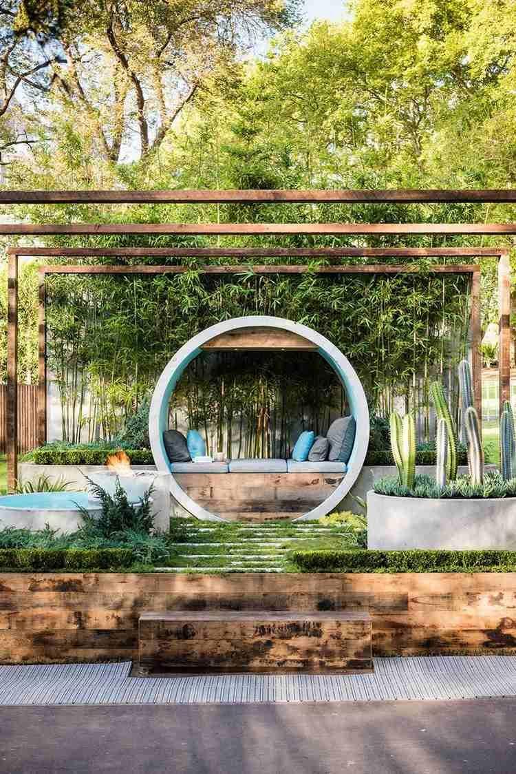 Aménagement Jardin Extérieur – Conseils Utiles En 20 Photos ... dedans Parterre Extérieur Moderne