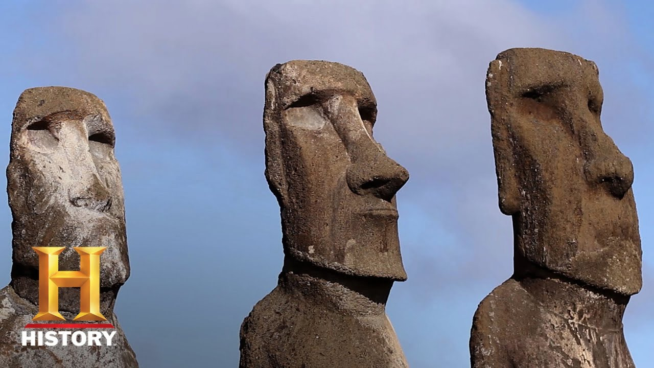 Ancient Aliens: Maoi Statues Linked To Alien Tech (Season 13 ... concernant Statue Moaï 1M