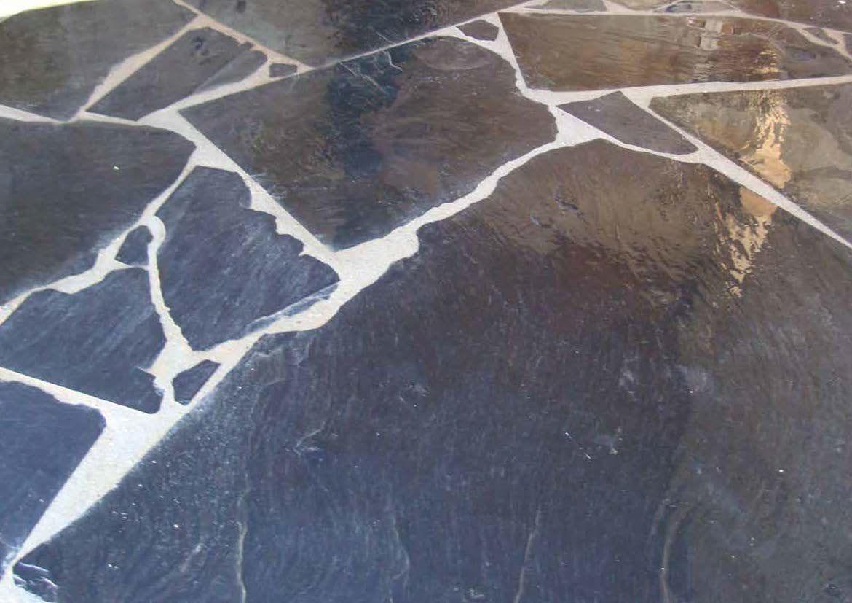 Ardoise Naturelle Noire Opus Irregulier | Terrasse Ardoise ... à Terrasse En Ardoise Naturelle