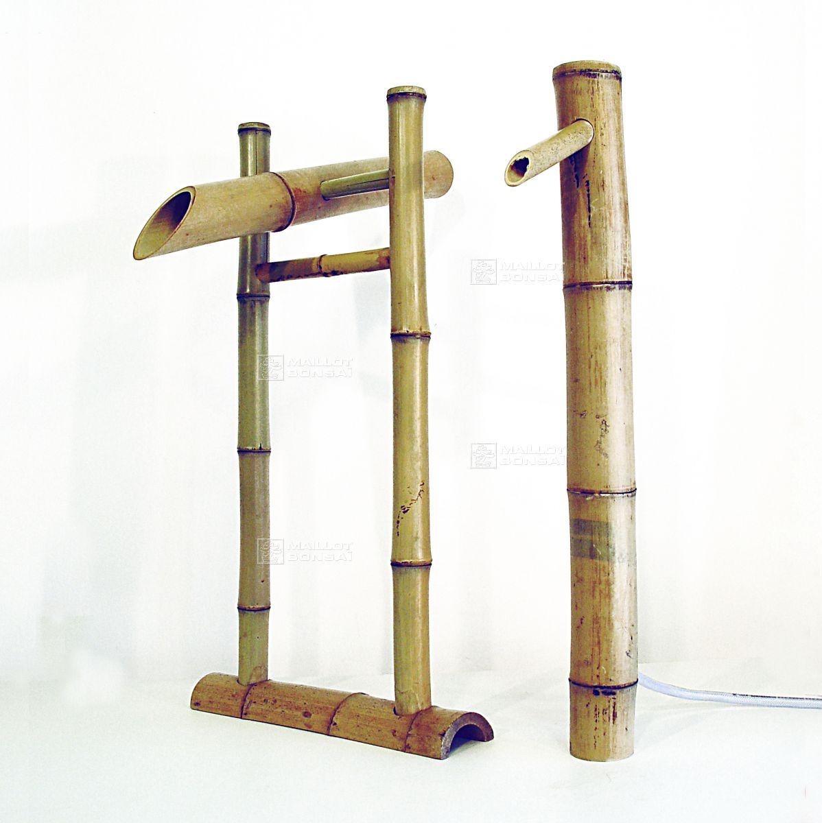 Bambous Fontaine Shishi Odoshi 2 Pieces De Maillot-Bonsaï ... à Fabriquer Un Tsukubai