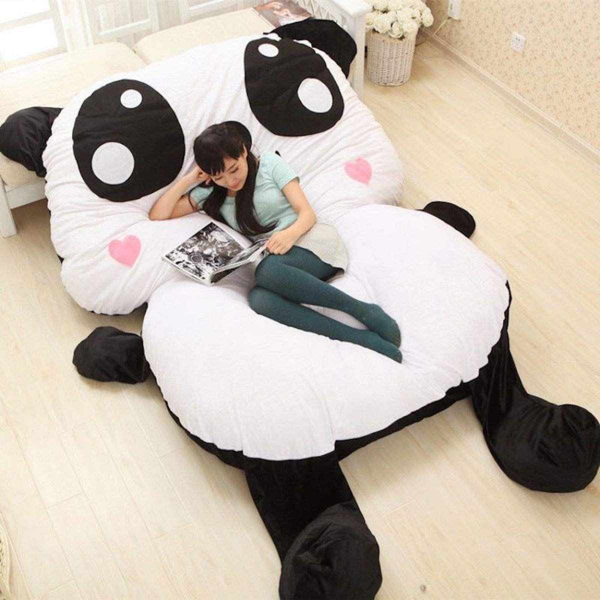 Banabed Pouf Lit Panda Géant   Lit Matelas, Idées De Lit ... à Coussin Totoro Geant
