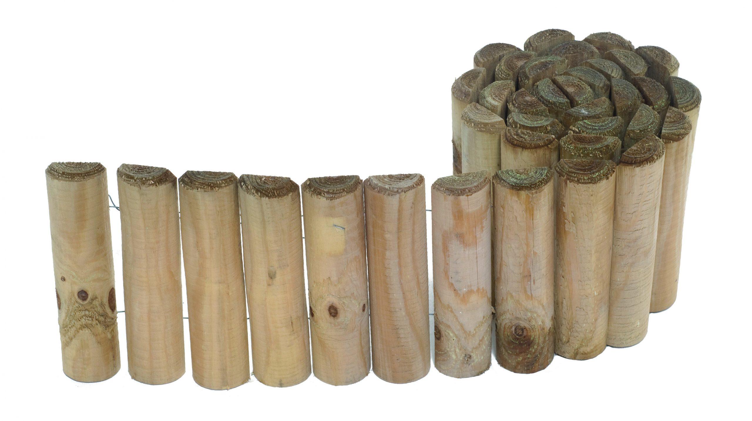 Bordure Siloux Demi-Rondins 30X180 destiné Bordure De Jardin Bricoman