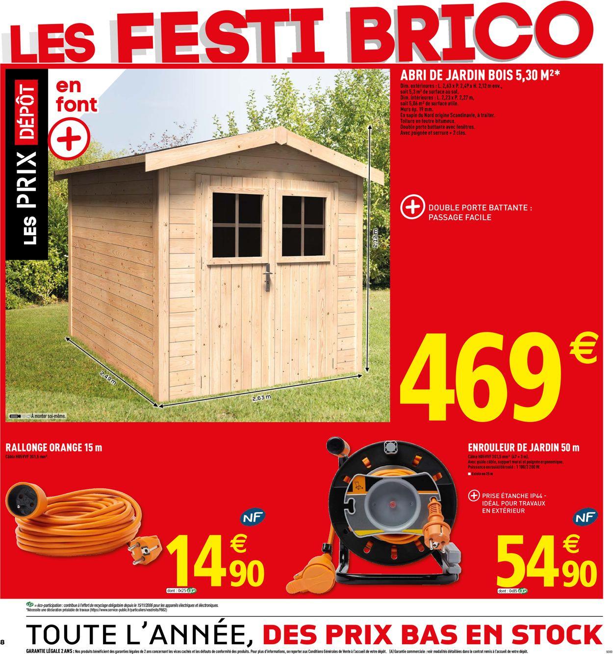 Brico Dépôt Catalogue Actuel 17.05 - 31.05.2019 [8 ... pour Abri Jardin Bois Brico Dépôt