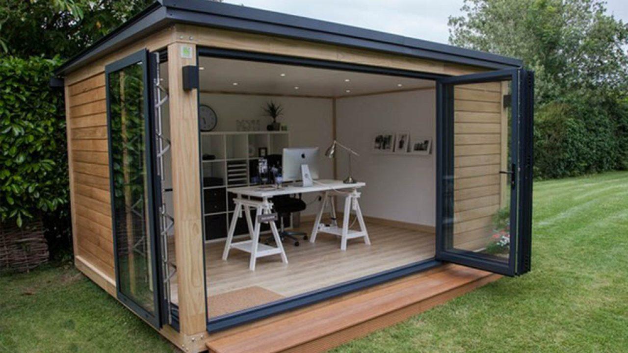 Bureau De Jardin En Bois : La Clé D'un Design Discret Et Élégant avec Cabanon Jardin Modules De 5M2