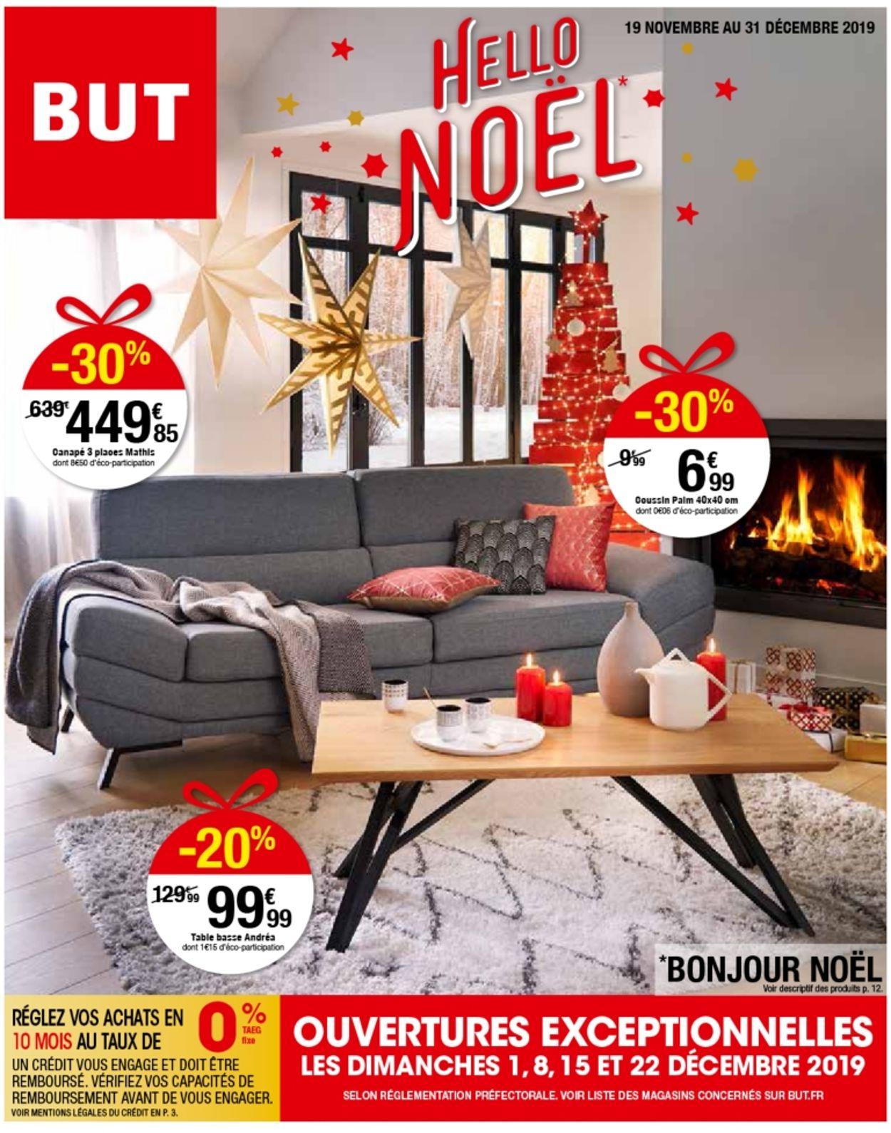 But Catalogue De Noël 2019 Catalogue Actuel 19.11 - 31.12 ... tout Canapé Mathis 3 Places