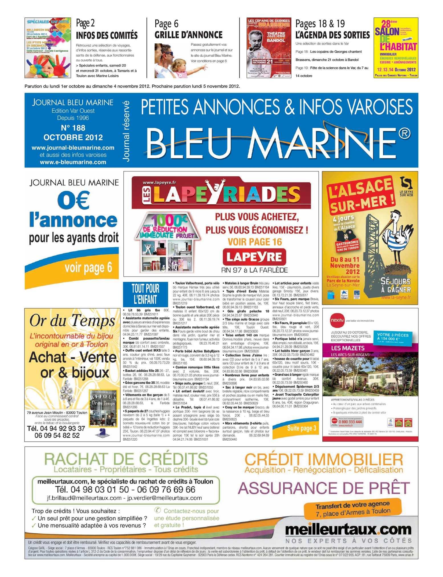 Calaméo - Journal Bleu Marine N°188 Octobre 2012 dedans Bordure P1 Bricoman