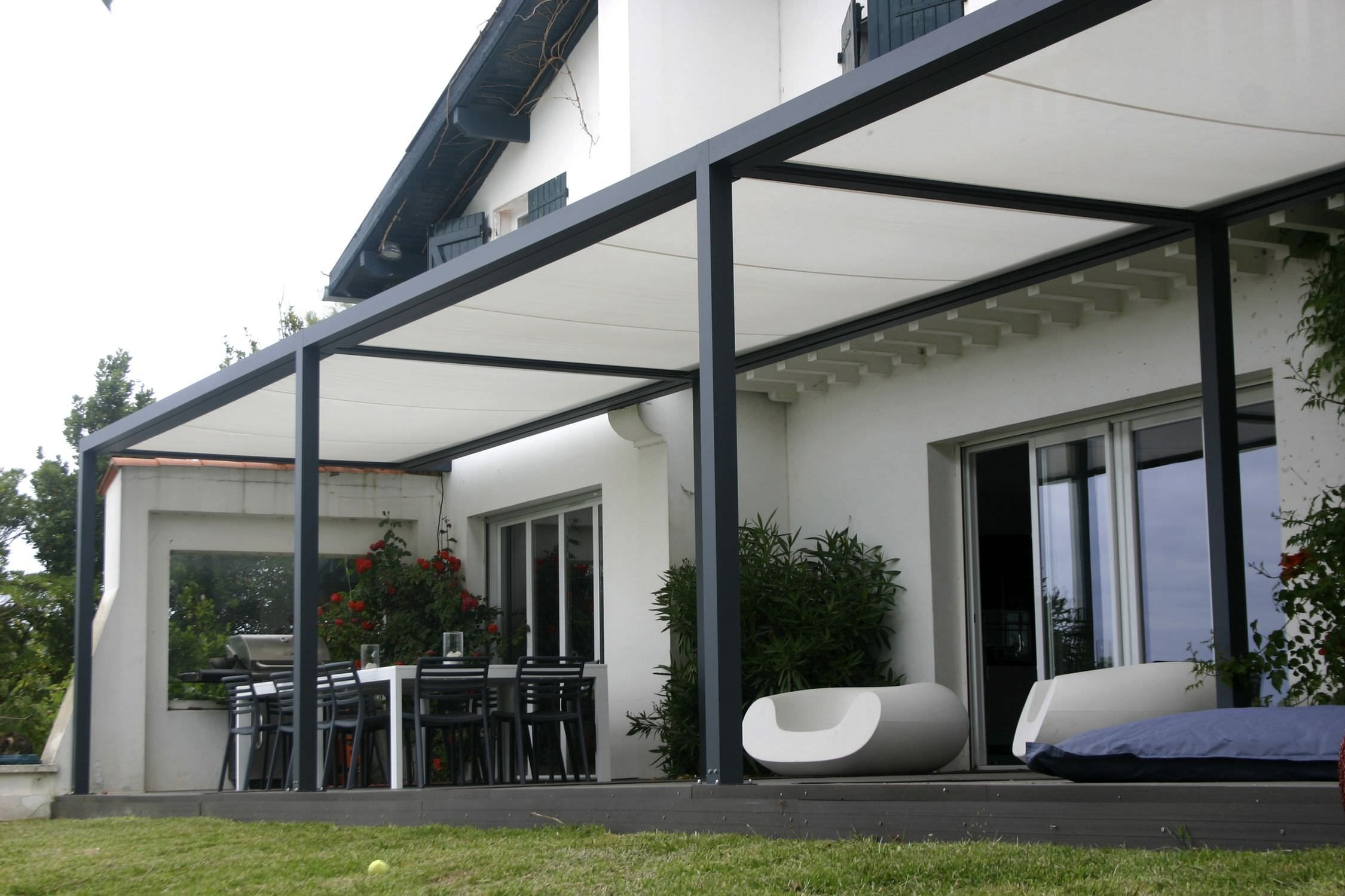 Canvas Of Backyard Patio Covers: From Usefulness To Style ... tout Pergola Alu Pour Mobil Home