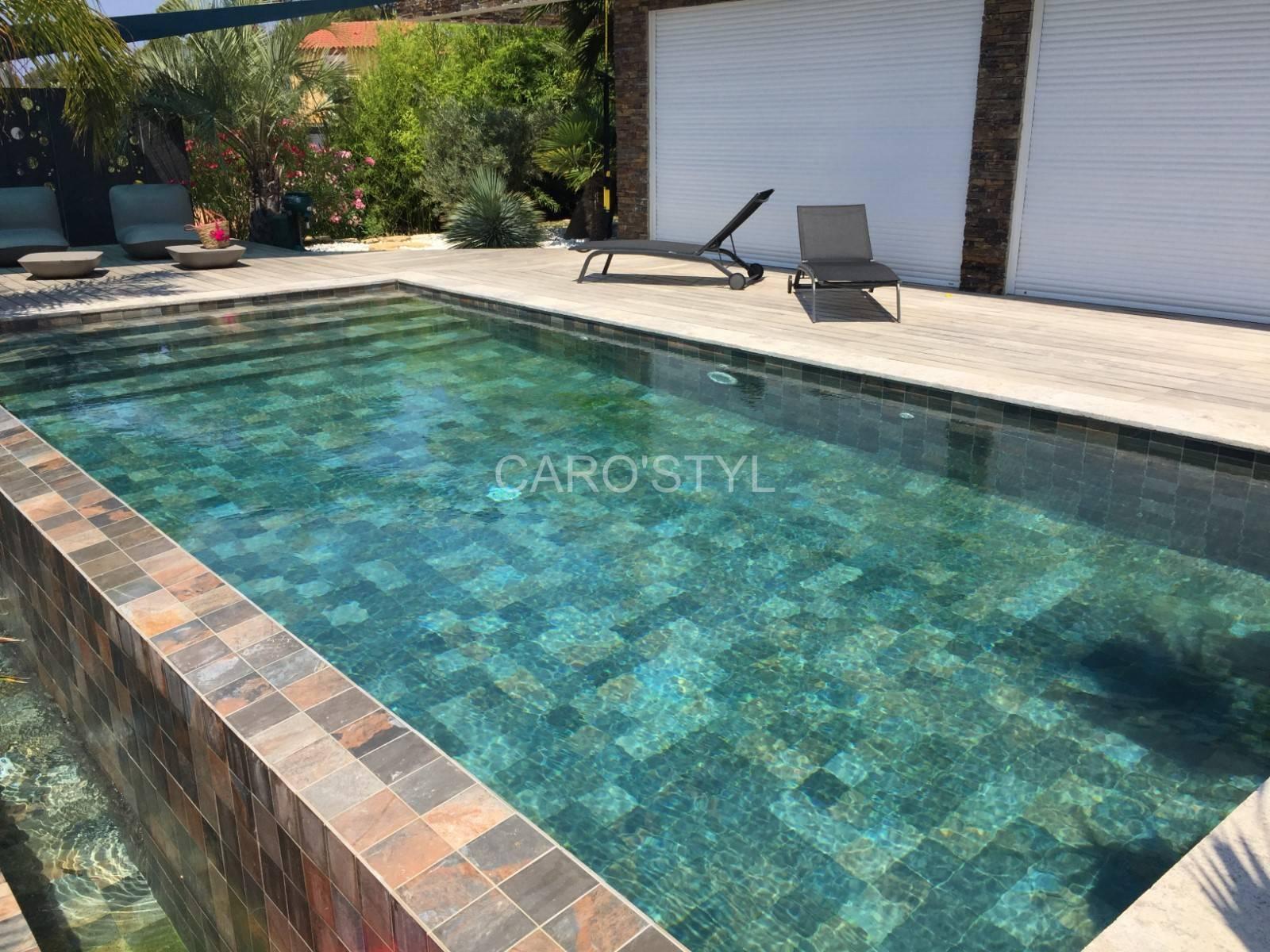 Carrelage Green Bali® 30X60 , Pour Un Bassin Avant Gardiste ... encequiconcerne Carrelage Piscine Bali 30X60