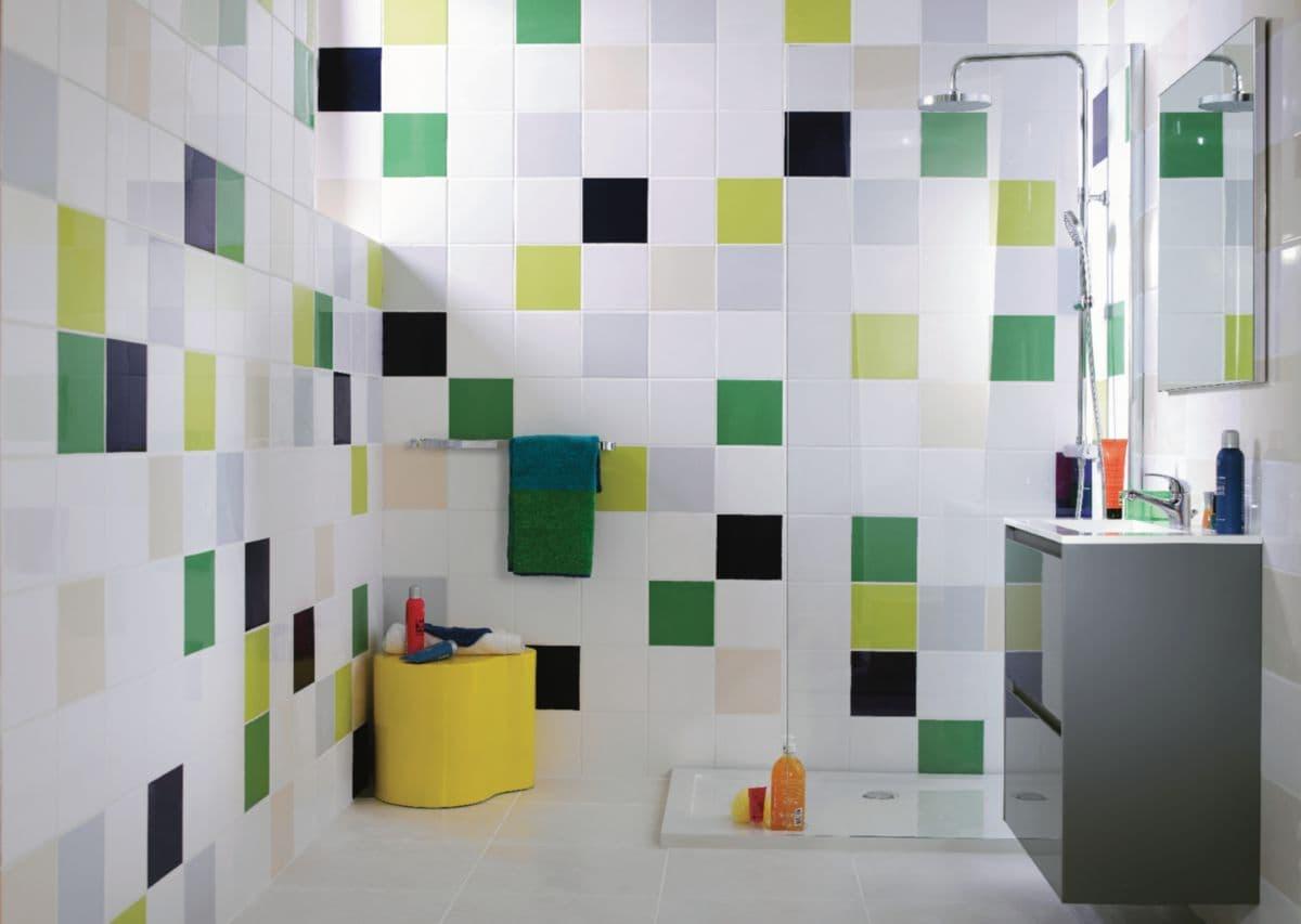 Carrelage Mural Intérieur Faïence Archicolor - Blanc Brillant - 19,8X19,8 Cm intérieur Faïence 10X10 Point P