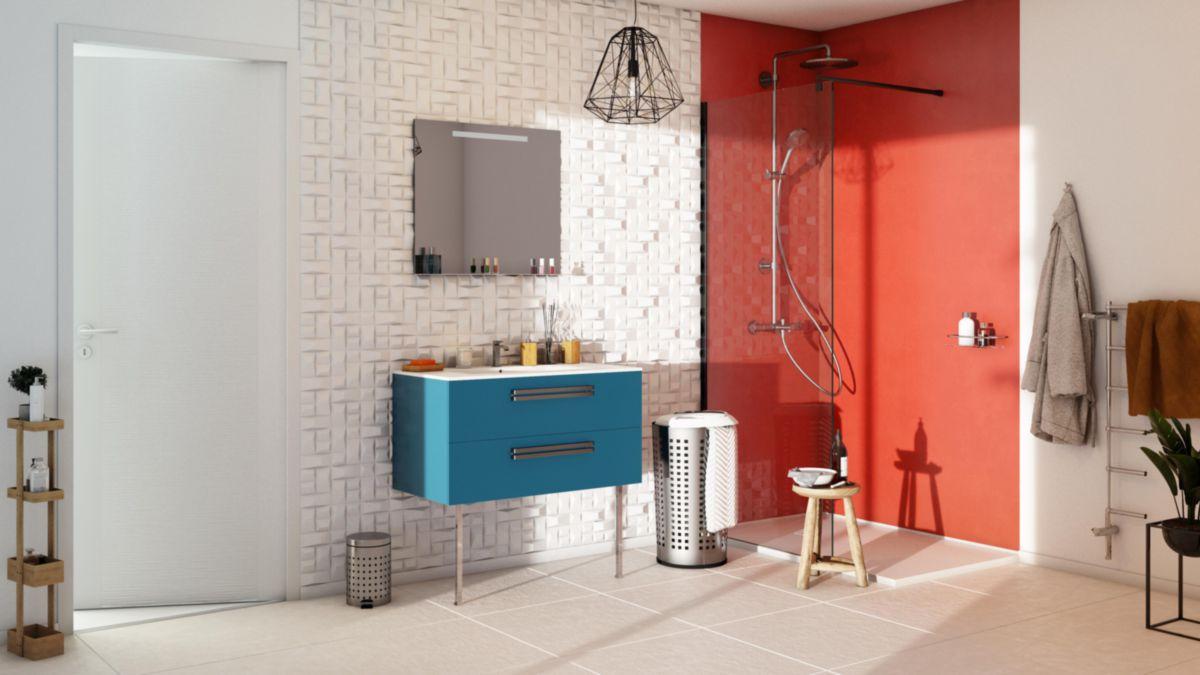 Carrelage Mural Intérieur Faïence Colors Mat - Rouge - 25X40 Cm tout Faïence 10X10 Point P