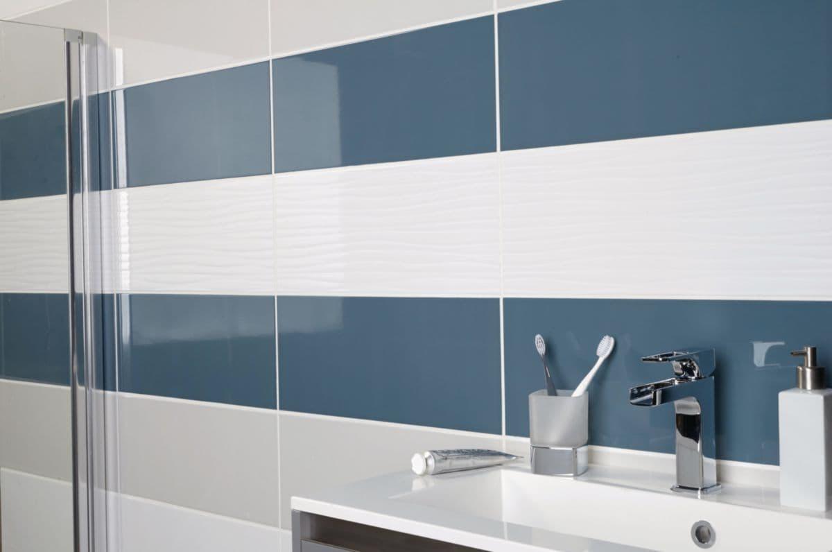 Carrelage Mural Intérieur Faïence Glossy - Blanc Brillant - 20X50 Cm concernant Faïence 10X10 Point P