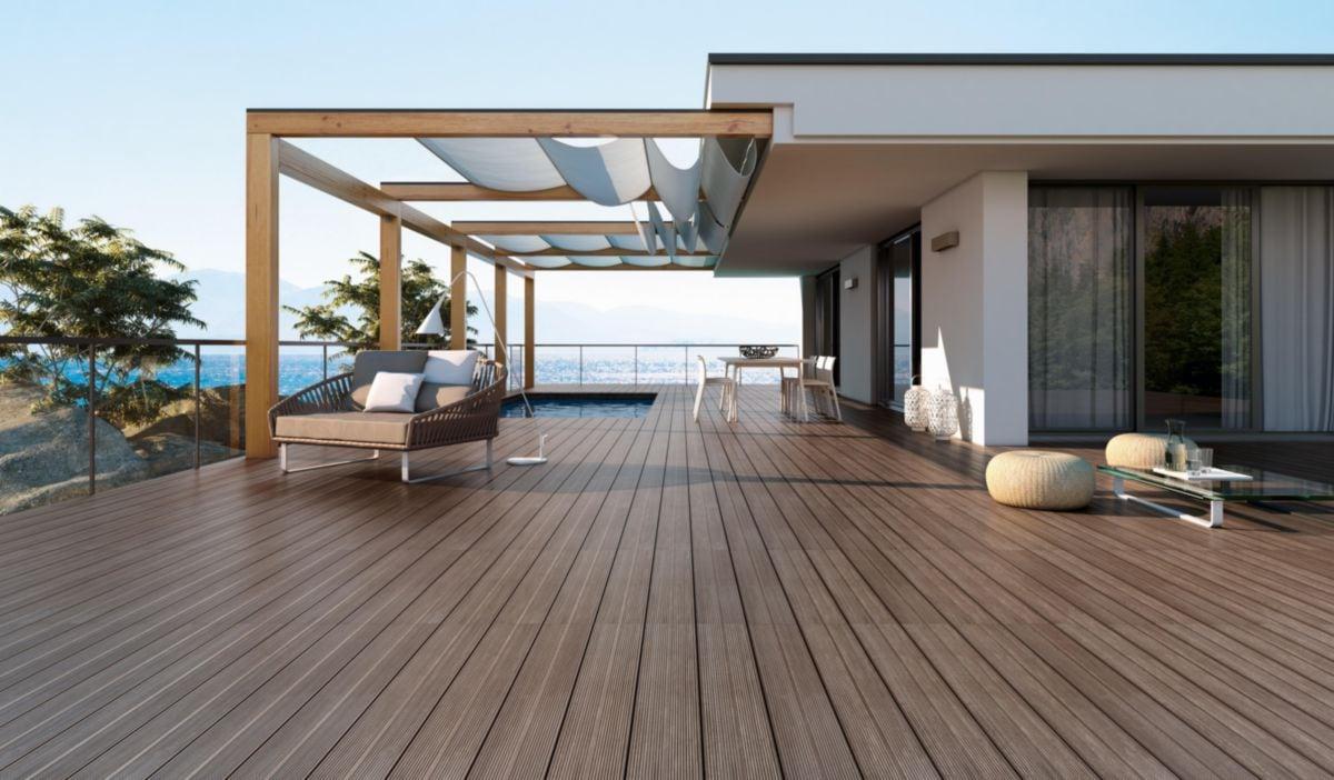 Carrelage Sol Extérieur Grès Cérame Imagine Deck - Brun Naturel Rectifié -  16X99 Cm intérieur Carrelage Extérieur Imitation Teck
