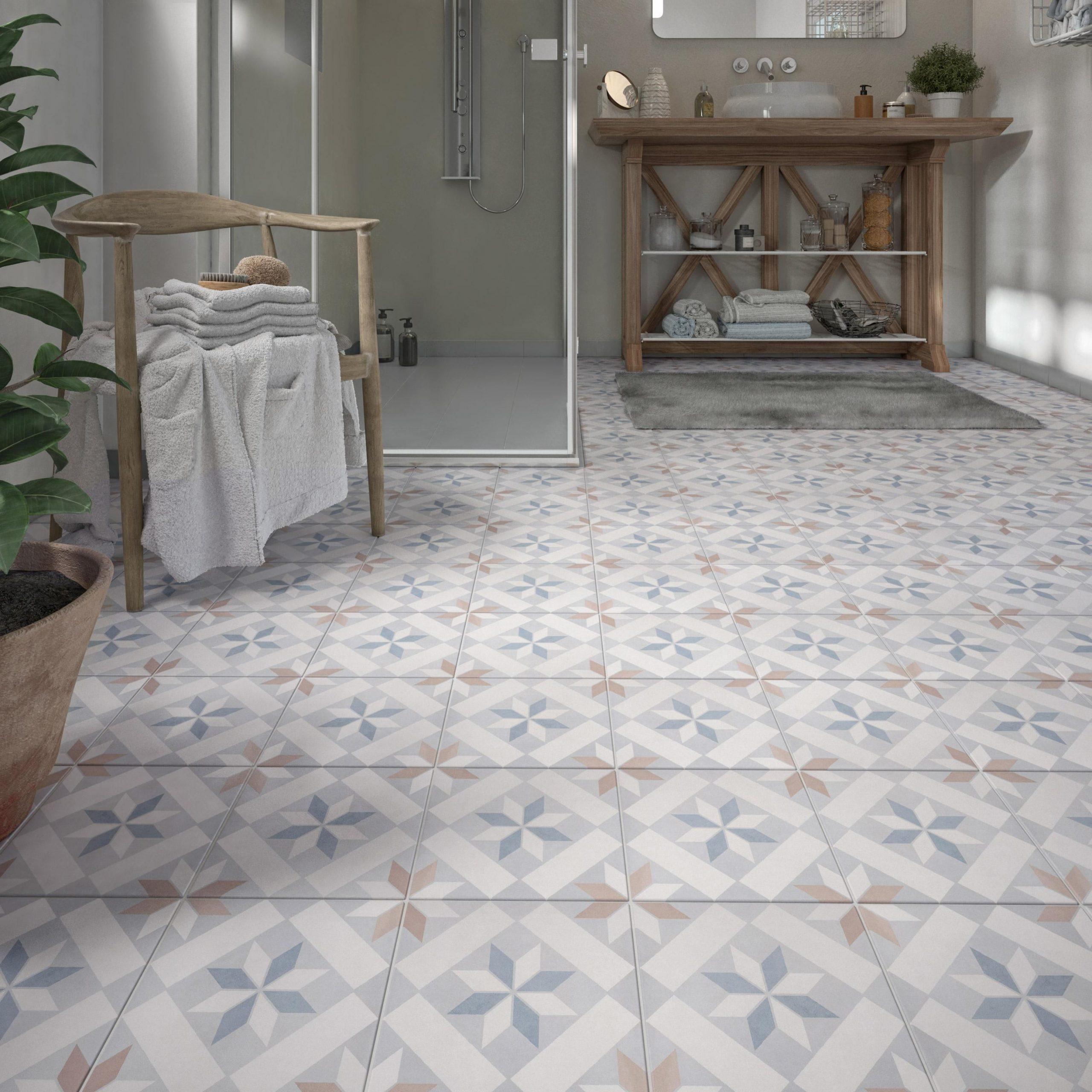 Carrelage Sol, Mur Multicouleur Effet Carreau De Ciment ... encequiconcerne Carrelage Ancien Cuisine 1930