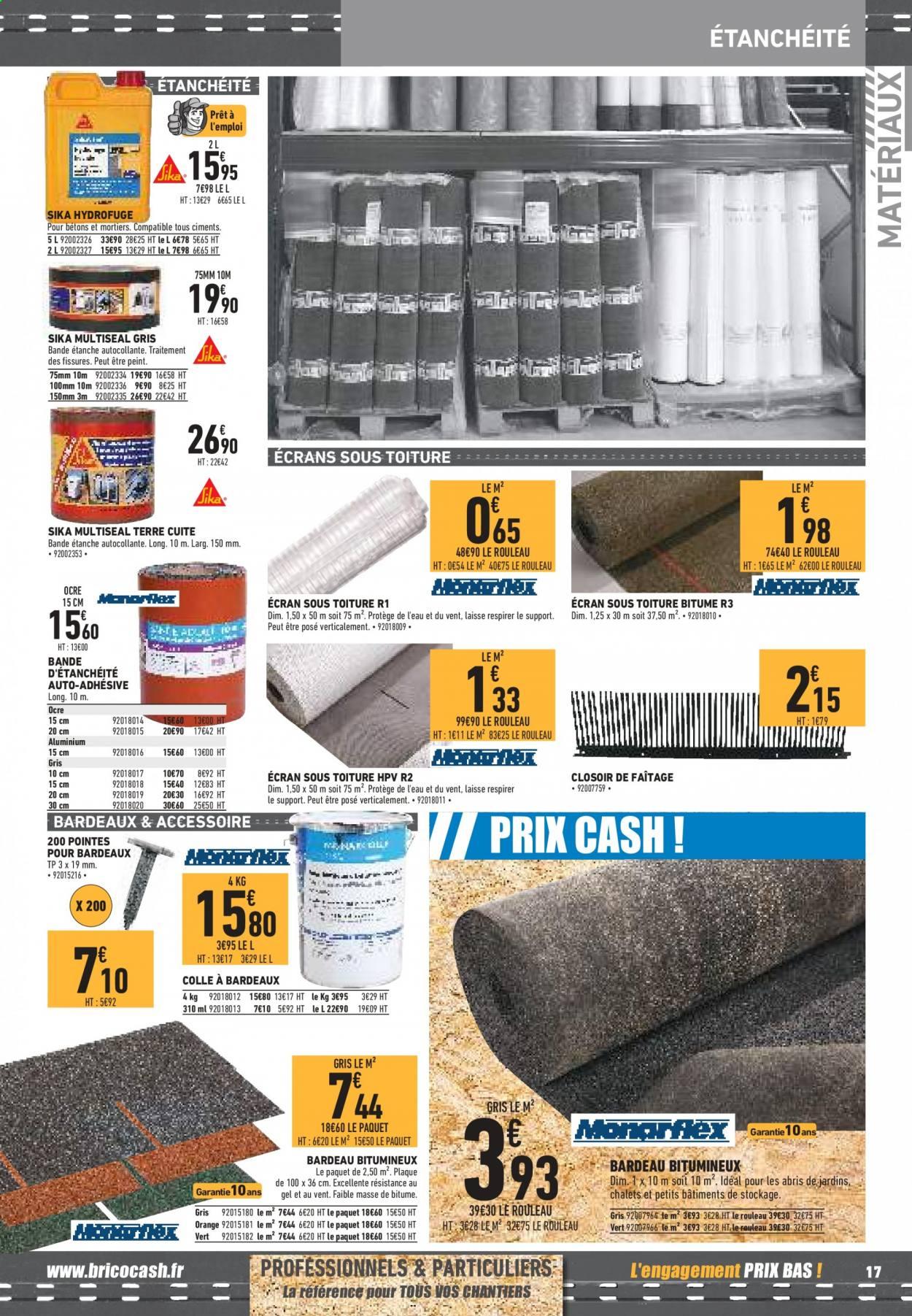 Catalogue Brico Cash 12.06.2020 - 31.08.2020   Vos Promos concernant Rouleau Bitume Brico Dépôt