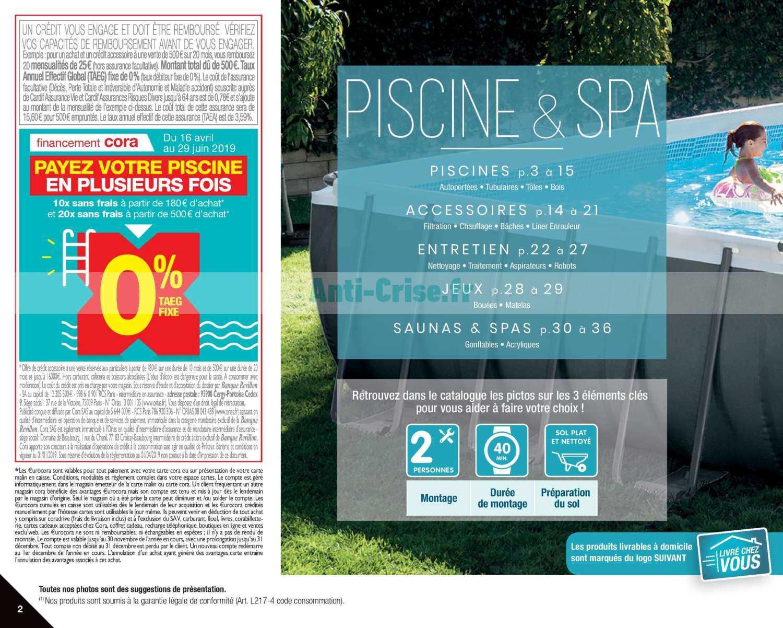 Catalogue Cora Du 09 Avril Au 30 Juin 2019 (Piscine Et Spa ... tout Cora Piscine Bois