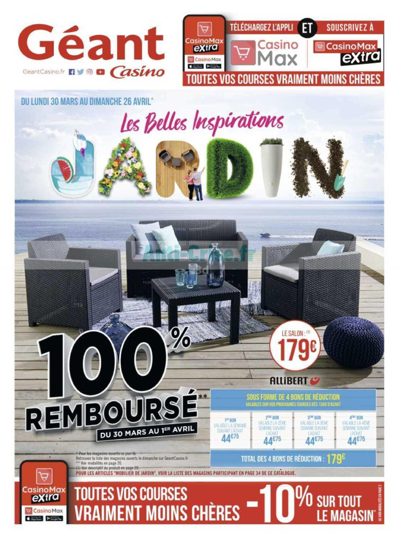Catalogue Géant Casino Du 30 Mars Au 26 Avril 2020 (Jardin ... pour Chaise De Jardin Geant Casino