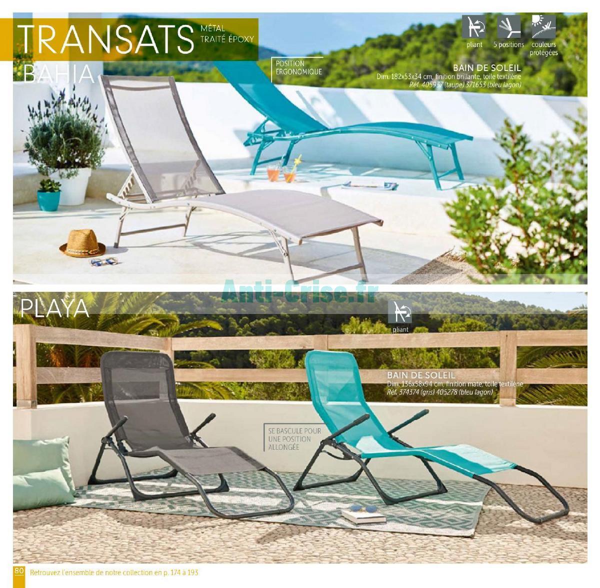 Catalogue Gifi Du 1Er Mai Au 31 Août 2018 (Plein Air ... pour Bain De Soleil Playa Gifi