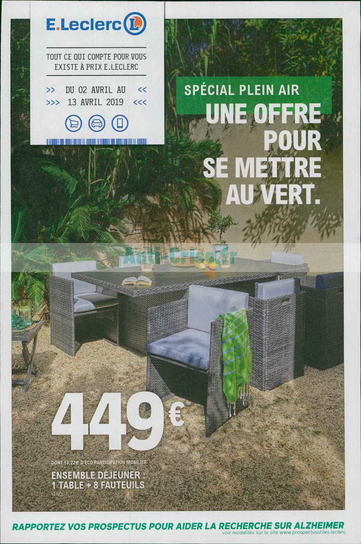 Catalogue Leclerc Du 02 Au 13 Avril 2019 (Jardin ... encequiconcerne Table Ronde Teck Leclerc
