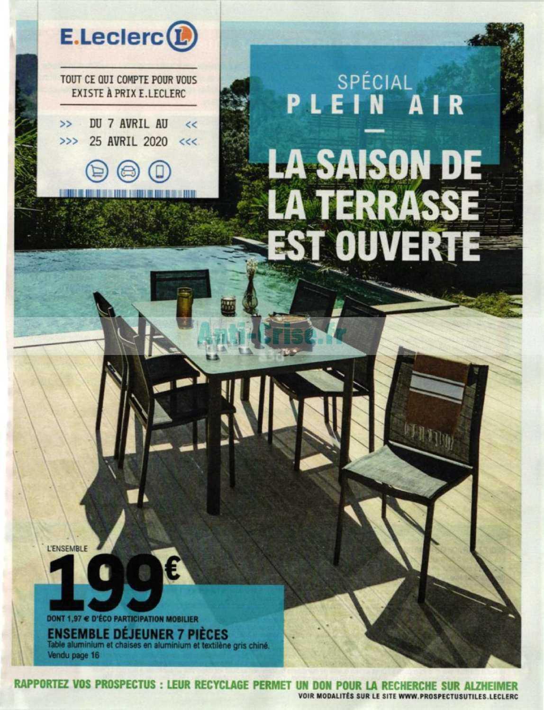 Catalogue Leclerc Du 07 Au 25 Avril 2020 (Plein Air ... intérieur Salon De Jardin Lecler