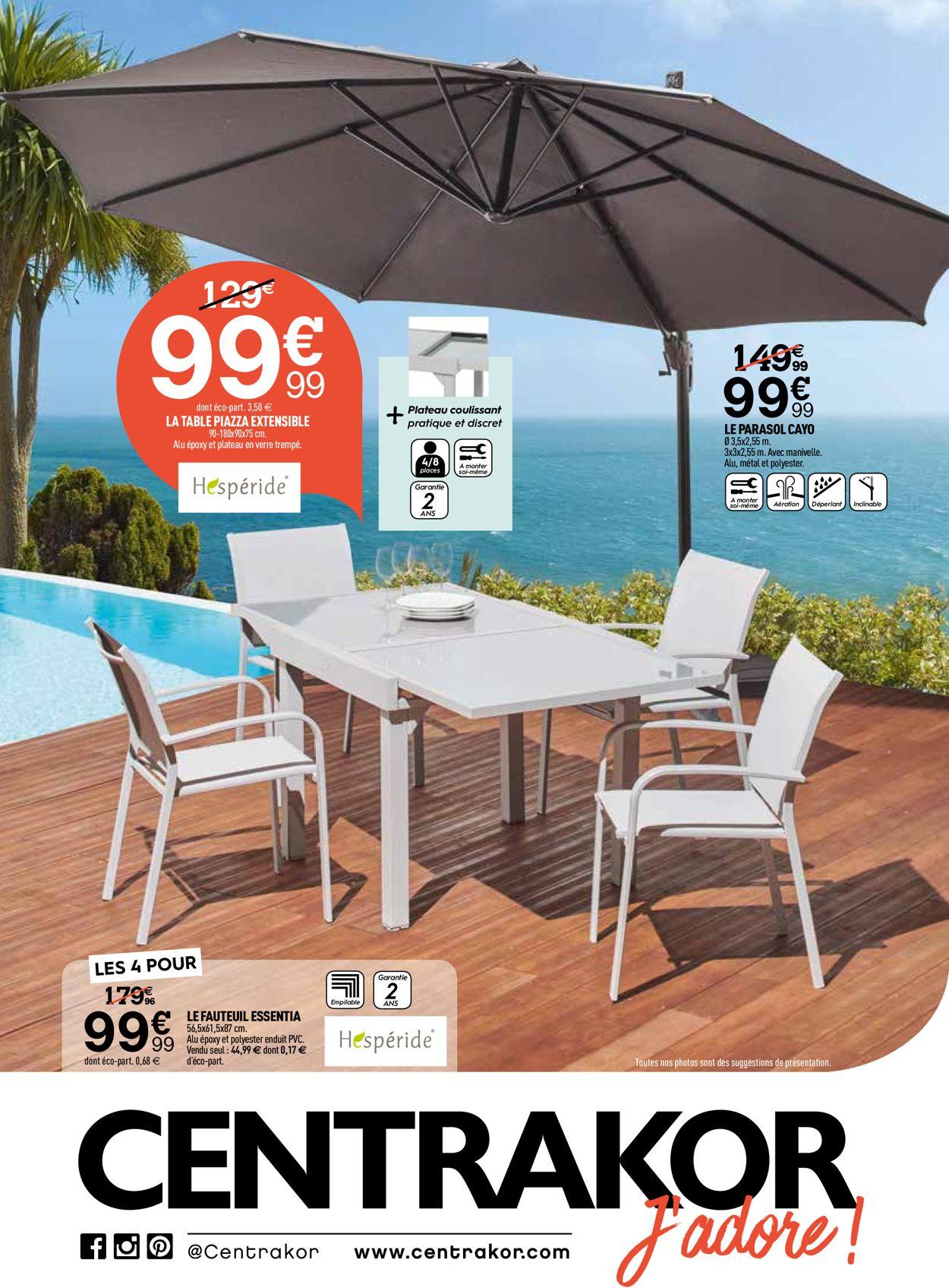 Centrakor Catalogue Actuel 25.05 - 30.06.2020 - Catalogue-24 serapportantà Table Hespéride Piazza Centrakor