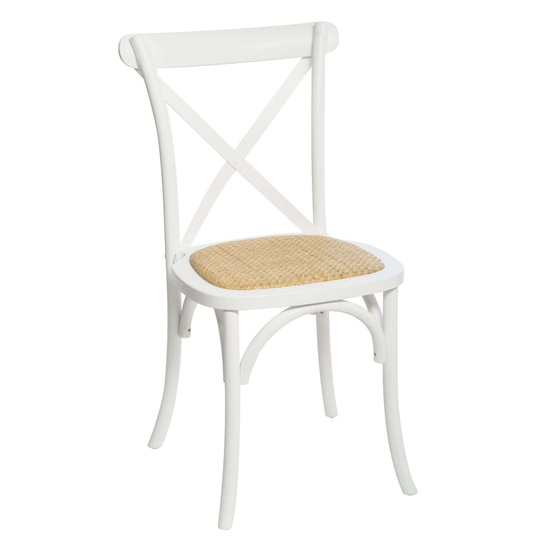 Chaise Bistrot Design Dantan En Bois Isak - Blanc à Chaise Bistrot But