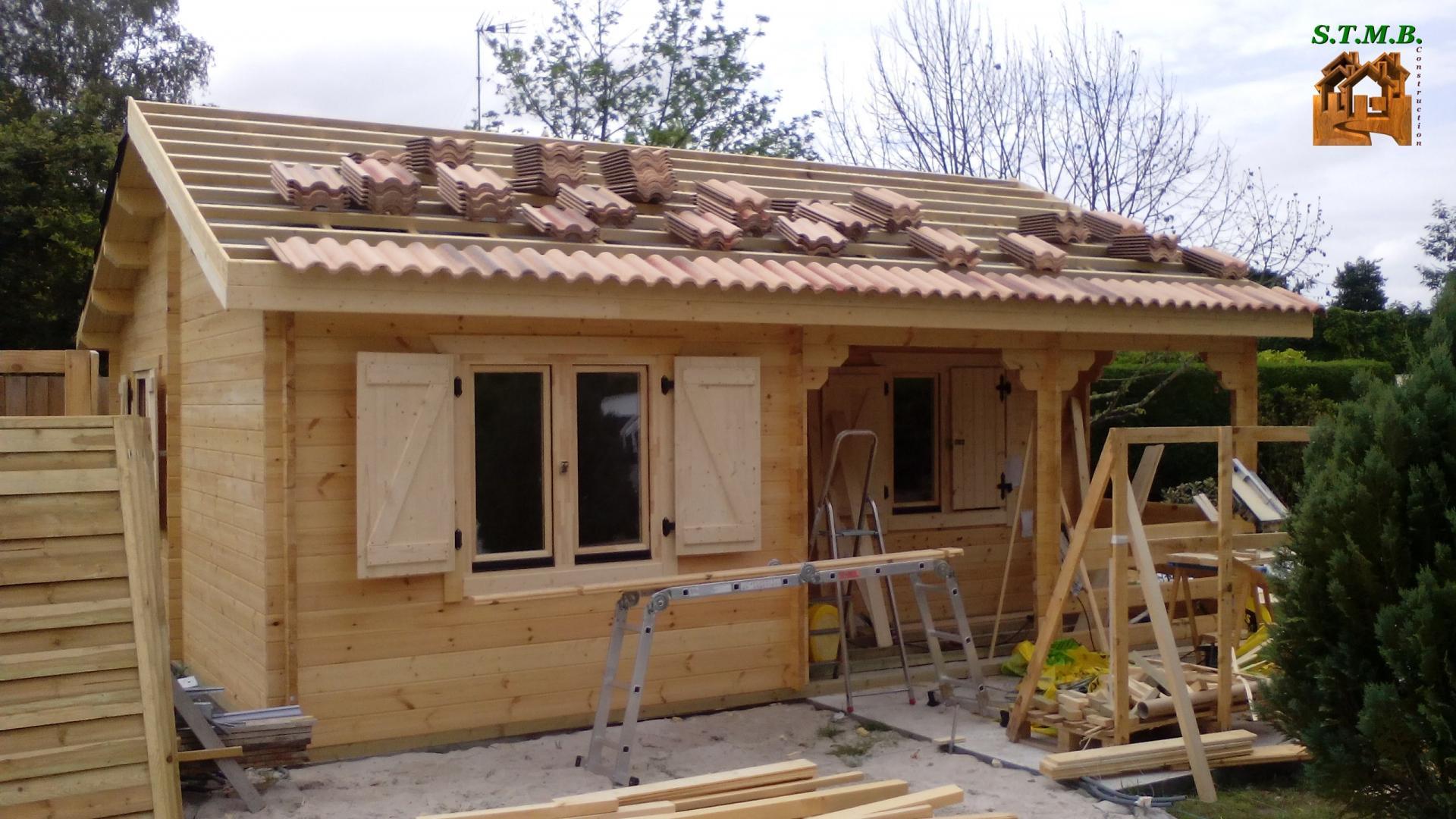 Chalet Bois Bordeaux 42 pour Cabane Habitable En Kit