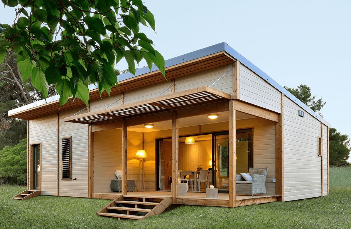 Chalet En Bois Habitable 50 M2 - Maison Bois Eco à Cabane Habitable En Kit