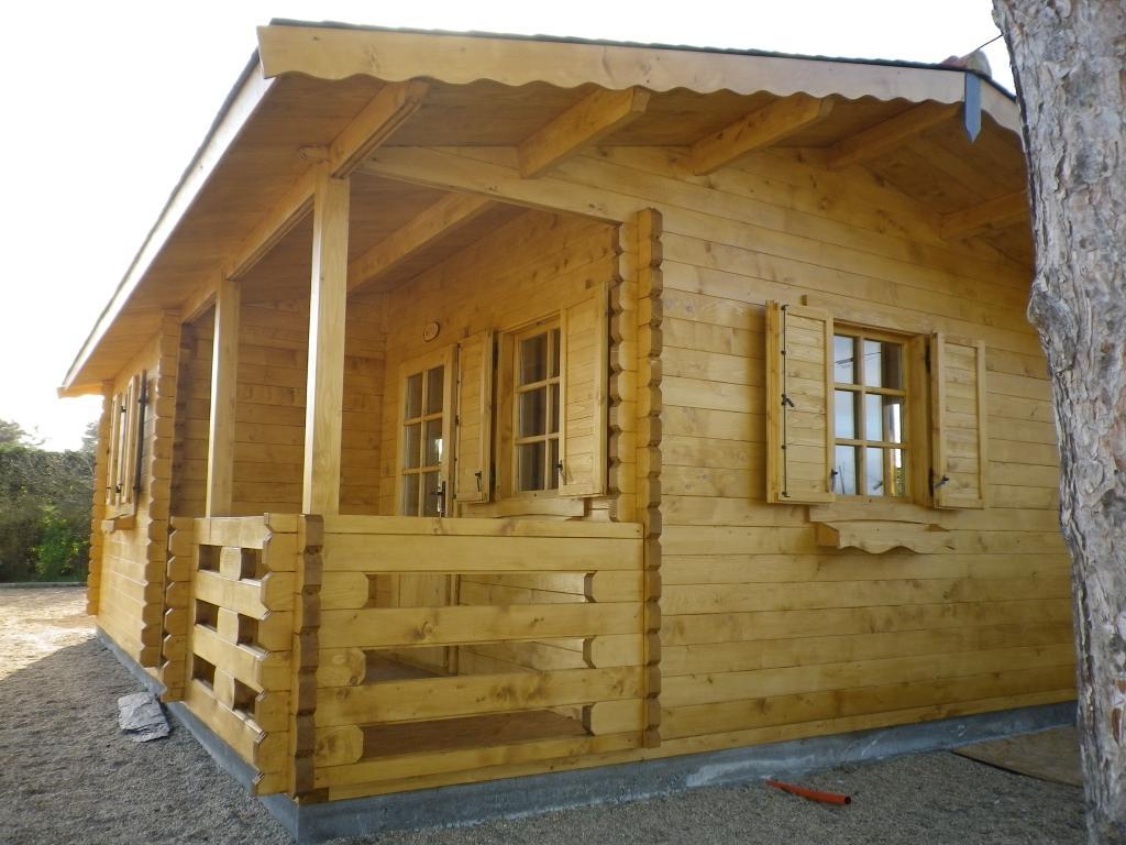 Chalet Habitable De Loisirs 40M2 En Bois En Kit destiné Cabane Habitable En Kit