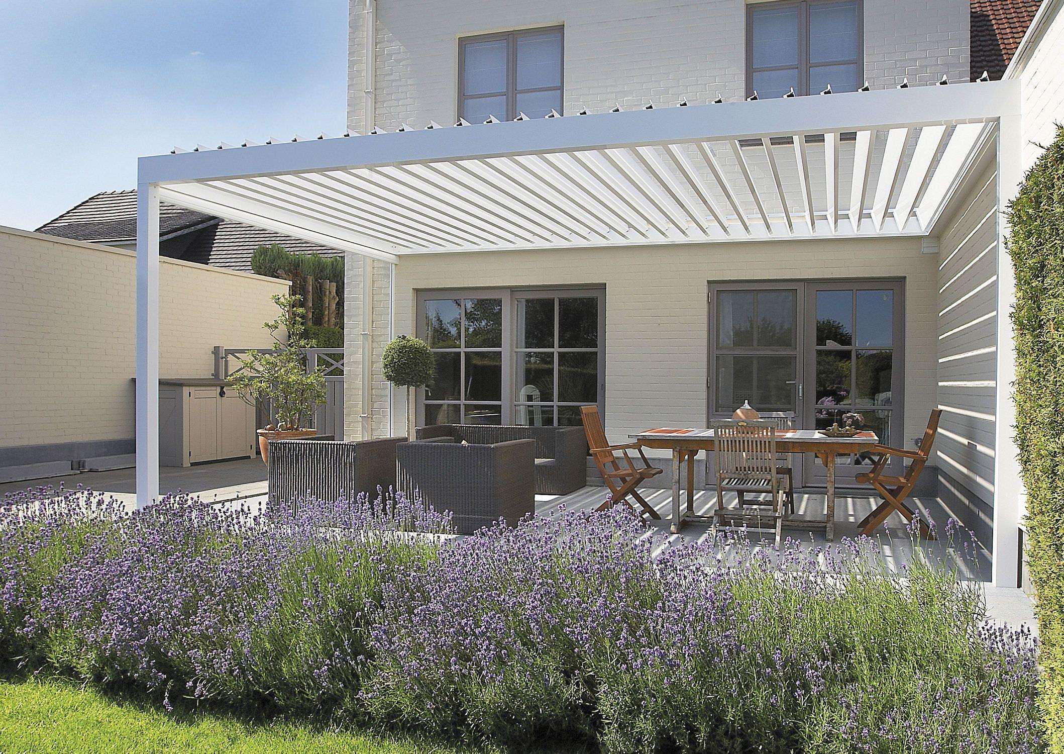 Clean And Simple Design   Terrassengestaltung ... avec Pergola Alu Pour Mobil Home
