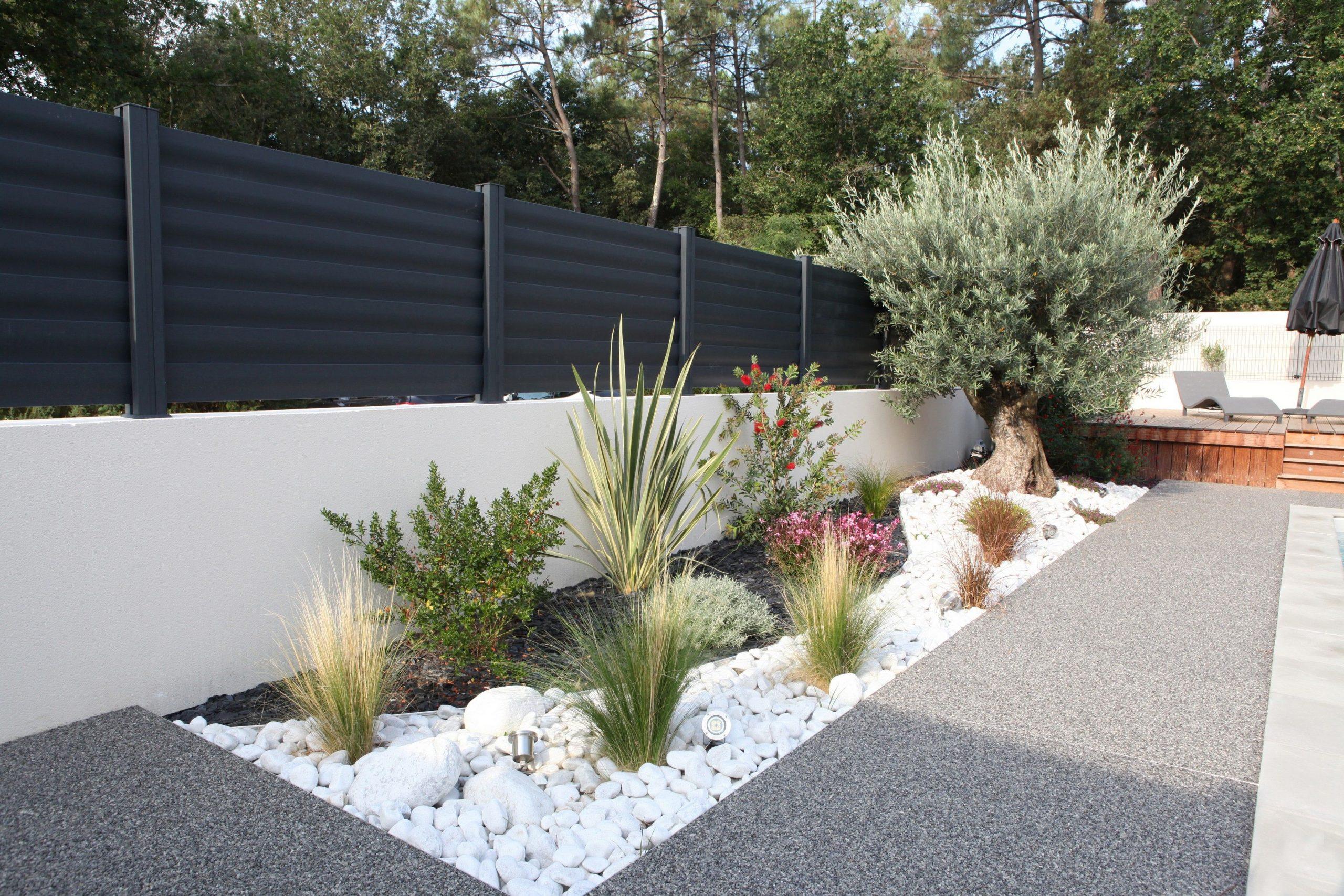 Clôtures Aluminium Modèle Brise Vue #menuiserie #cloturel ... avec Idee Deco Jardin