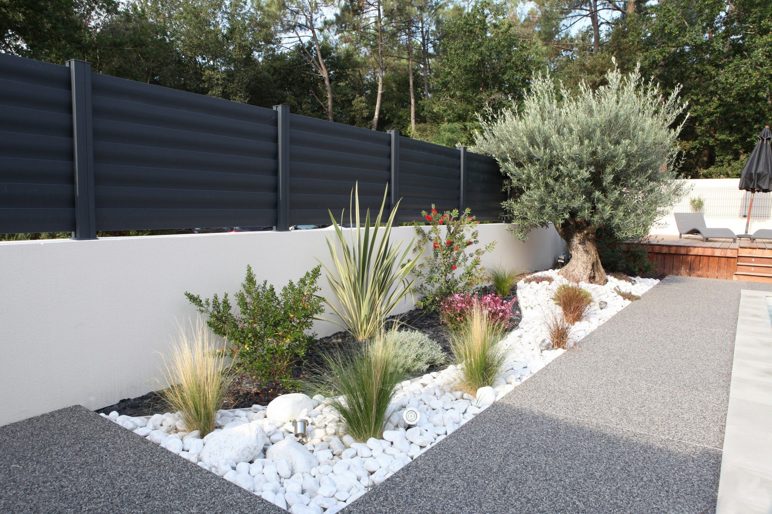 Clôtures Aluminium Modèle Brise Vue #menuiserie #cloturel ... pour Parterre Devant Maison Moderne