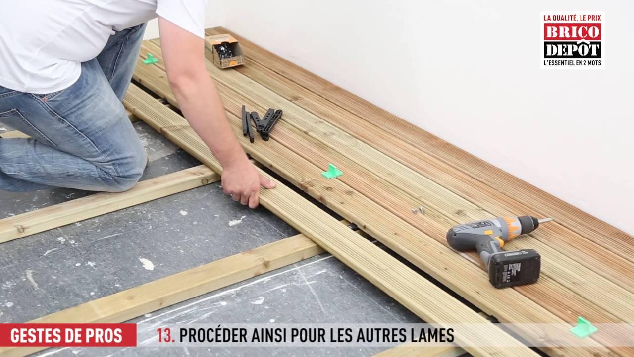 Comment Fixer Des Lames De Terrasse ? - Vidéos - Brico Dépôt ... encequiconcerne Vis De Fondation Brico Dépôt