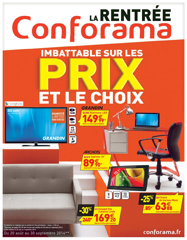 Conforama Catalogue 20Aout 30Septembre2014 By ... à Lit Greg Conforama