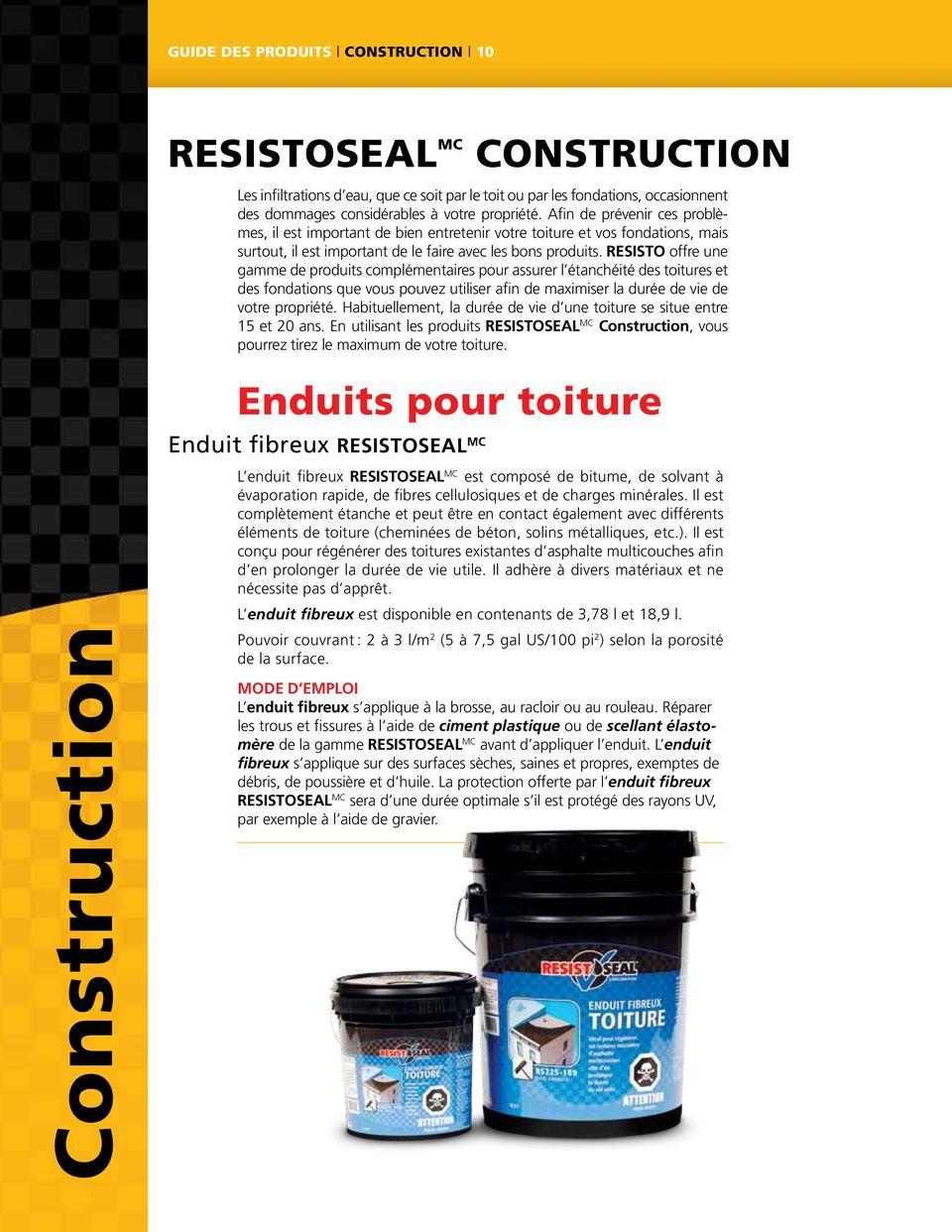 Construction Asphalte - Pdf Free Download intérieur Enduit Fibreux Pour Toiture